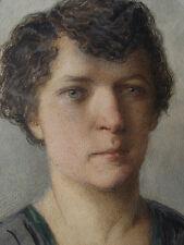 Maria Beskiba  (1869-1934) Bildnis einer Frau. Oval 1922.