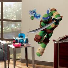 LEONARDO GiaNT WALL DECALS Teenage Mutant Ninja Turtles Stickers Kids Room Mural
