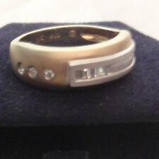 14k Yellow Gold Ring with Genuine Diamonds - New