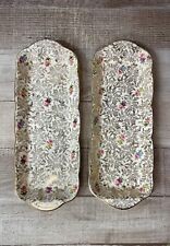 Vintage Set of Two Trinket Dishes/Trays