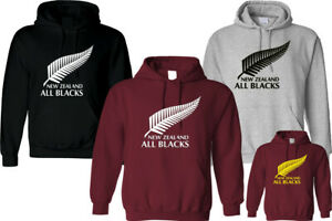 NEW ZEALAND ALL BLACKS HOODIE INSPIRED UNISEX FUNNY HIPSTER CHRISTMAS TOP GIFT