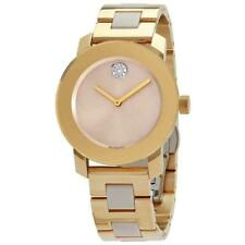 Movado 3600640 Bold 34mm Women's Two-tone Ceramic and Stainless Steel Watch