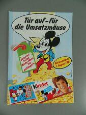 "KIDS CHOCOLATE: Folder ""Door trailer Mickey Mouse 1988"" VERY RARE"