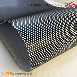 30 x 120cm Headlight Tint Perforated Film Mesh Like Fly Eye + FREE SQUEEGEE