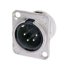 Neutrik NC4MD-L-1 XLR 4 Pin Male, Panel Mount - Solder - Nickel/Silver 1119