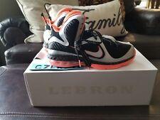Nike LeBron 9 IX Mango  Basketball Shoes Sz. 9 Orange Black Silver South Beach