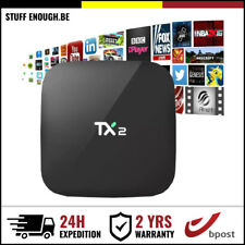 TX2 Android Multi Media Player Streamer Wifi 4K TV Box Kodi 2GB RAM 16GB HDD