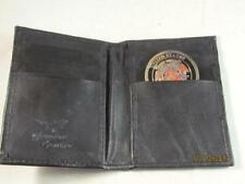 "COMMEMORATIVE CHALLENGE 2"" COIN HOLDER BLACK LEATHER CREDIT CARD WALLET ID NEW"
