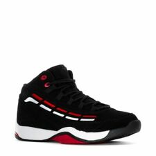 FILA SPITFIRE LOW LEATHER TRAINER SPORTS MEN SHOES BLACK/RED/WHITE SIZE 11.5 NEW