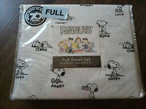 Berkshire Peanuts Snoopy Emotions Moods Full Sheet Set Polyester NEW
