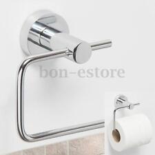 Stainless Steel Bathroom Toilet Roll Tissue Paper Dispenser Holder Hook Mounted