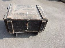 BIG VINTAGE TRUNK CASE BOX  INDUSTRIAL CHIC  STRONG HEAVY  MILTARY LOOK 68/50/33