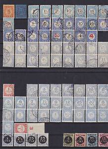 Nederland/Holland: large lot of very old postage-due stamps – Look at scan!!!