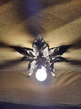 alte Florentiner Deckenlampe 70er Jahre lamp 70s flower wall lamp Wandlampe