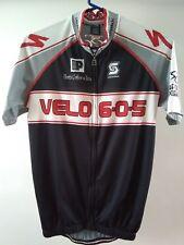 957372233 Squadra Velo 6-0-5 Black Red White Full Zipper Mens Cycling Jersey Size