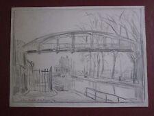André Dauchez dessin au crayon Canal de l'Ourcq