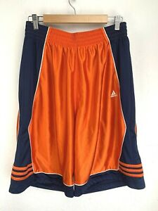 Adidas Basketball Shorts Orange Size L Large A02001 958891 Mesh Lined