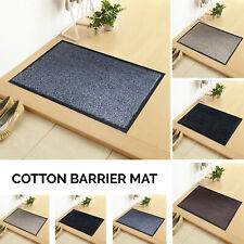Cotton Dirt Trapper Barrier Entrance Front Door Mat Non slip backing Dust Proof