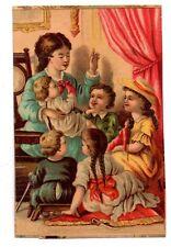 Chromo - Mère et ses enfants ( i 7610)