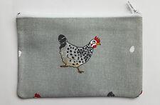 Sophie Allport Chicken Fabric Handmade Lrg Zippy Coin Purse Storage Pouch