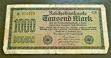 1922 GERMAN PRE WW2 BANKNOTE 1000 MARK *D* REICHSBANKNOTE