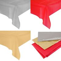 Large Christmas Tablecloth Table Decoration Festive Xmas Wipe Clean PVC Red Gold
