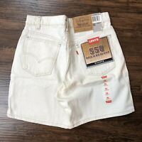 Vintage 90's Levis 550 Relaxed Fit Shorts Men's 31 Cream Off White Denim NWT USA