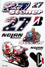 Casey Stoner Number #27 Decals MotoGP Motorcycle Nolan Helmet Stickers Aufkleber
