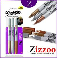 SHARPIE METALLIC MARKERS FINE IN GOLD SILVER AND BRONZE PACK OF 3
