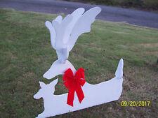 REINDEER W FAWN CHRISTMAS YARD ART WOODWORKING PLANS PATTERN ELF LADIES BOHO
