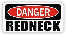 Funny Hard Hat Sticker | DANGER - REDNECK Motorcycle Welding Helmet Decal Label