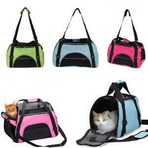New Folding Dog Cat Puppy Pet Carrier Fabric Portable Kennel Crate Cage 3 Size