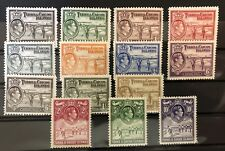 1938 Turks & Caicos Islands KGVI Definitives Salt Industry mint never hinged set