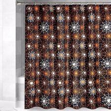 Halloween Shower Curtain Glow In The Dark Spider Web Bathroom Decoration Decor