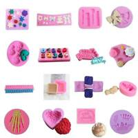 Silicone Fondant Mold Cake Decorating DIY Chocolate Baking Mould Tools Lot P