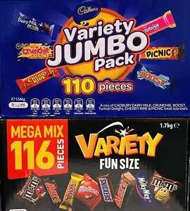 226 pcs: Mars 116 VARIETY MIX+ Cadbury 110 VALUE JUMBO Pack Chocolate Wholesale