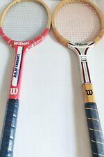 "Vintage Rare Wilson Jimmy Connors American Star Wooden Tennis Racket 4 3/8"" Grip"