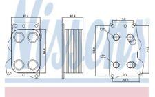 NISSENS Radiador de aceite motor 90740