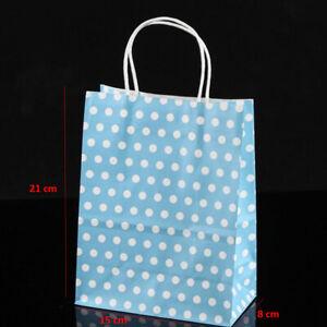 Cute Polka Dot Pattern Cupcake Liners w/ Kraft Paper Gift Bags (Multiple Colors)