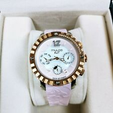 Mulco MW5-1622-813 Nuit Lace XL Pink Rose Dial Chronograph Watch New w box Swiss