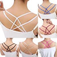 Women's Sexy Underwear Cross Back Heart Shaped Bra Shoulder Straps 6 Colors Hot