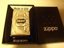 "Zippo Lighter ""Quality Since 1932"" No 29425 - Polished Black Ice Chrome BNIB"