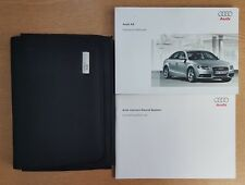 GENUINE AUDI A4 SALOON HANDBOOK OWNERS MANUAL WALLET 2007-2011 PACK D-901