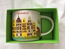 Starbucks Brussels YAH Mug Belgium Grand Place Waffles Fries Chocolate Coffee