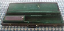 Vtg. Leather Perazzi Gun Case Storage Hunting Transport Rigid Gun Case