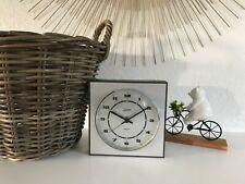 ♦ Ancienne Pendule Horloge Murale Carrée Kaiser électronique électrique Vintage