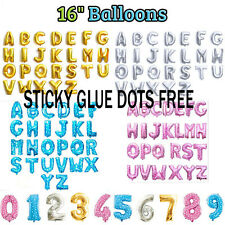 """16"""" Giant Large Glit Foil Number Balloons 0 1 2 3 4 5 6 7 8 9 Birthday Party"""
