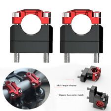 Pair CNC 22mm/28mm Motorcycle Handlebar Risers Motocross Accessories Black+Red