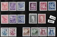 #6379    MNH stamp set Regular postage / WWII Germany Occupation / Third Reich