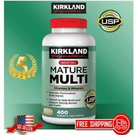 Kirkland Mature Multi 400 Tablets Adult 50+ MultiVitamin & Mineral FAST SHIPPING